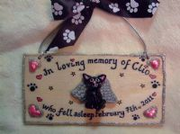 3d IN LOVING MEMORY PERSONALISED DOG CAT PET RABBIT GUINEA PIG MEMORIAL SIGN UNIQUE Handmade To Order